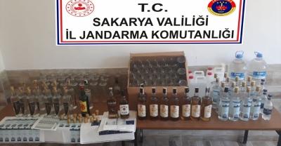 Sakarya'da kaçak içki operasyonu: 1 gözaltı
