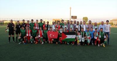 Sakarya'da Türkiye-Filistin dostluk karşılaşması yapıldı