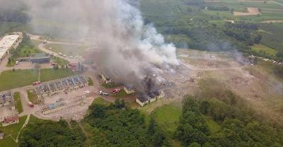 Sakarya'da Havai Fişek Fabrikasındaki Patlamanın Yeni Görüntüleri Ortaya Çıktı