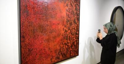 Kaligrafi sanatçısı Yücel, ilk kişisel sergisini Sakarya'da açtı