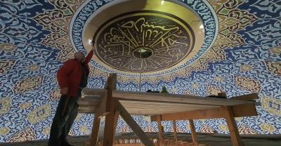Camilerin Kubbe ve Duvarları Öğrencilerin Eliyle Şekilleniyor
