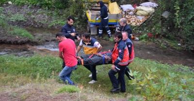 Sakarya'da at arabası devrildi: 2 yaralı