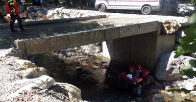 Sapanca'da ATV aracı devrildi: 2 yaralı