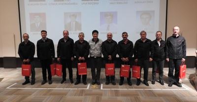 Toyota Türkiye'den emektar çalışanlarına plaket