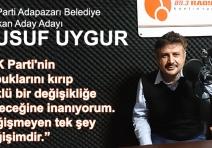 """""""AK Parti'nin kabuklarını kırıp köklü bir değişikliğe gideceğine inanıyorum. Değişmeyen tek şey değişimdir."""""""